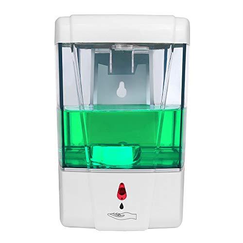 Dispensador de jabón automático Pared, 700 Ml Dispensador de Jabón con Sensor IR Automático de Montaje en Pared de, dispensador de jabón para Cuarto de baño, Aseo, Cocina, Oficina, Hotel