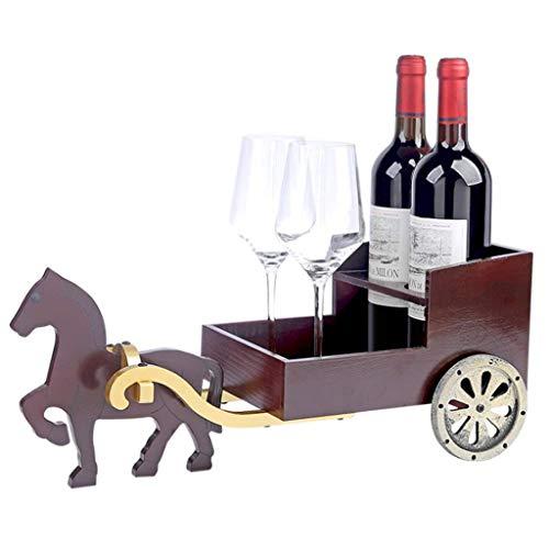Botellero Carro De Madera, Estilo Vintage Botella De Vino Bastidor Del Carro Chino, Madera Estante De Exhibición Del Estante Del Vino Para La Decoración Del Hogar Del Estante Del Vino De Pie Libre