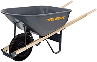 The AMES Companies, Inc R625 True Temper Steel Wheelbarrow, 6-Cubic Foot