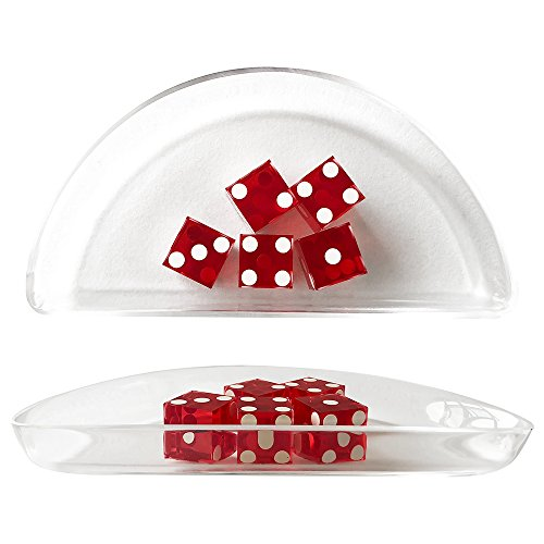 Yuanhe Acrylic Craps Dice Boat for Craps Game