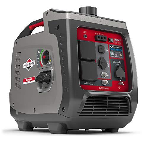 Briggs & Stratton Petrol Portable Inverter Generator PowerSmart Series P2200 featuring 2200 Watt/1700 Watt clean power, ultra quiet and lightweight