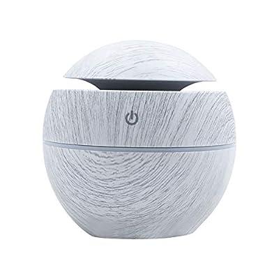 XUYIZU Aromatherapy Essential Oil Diffuser, Waterless Auto Off, Air Aroma Essential Oil Diffuser 7 Colour Changing LED Ultrasonic Aroma Aromatherapy Humidifier