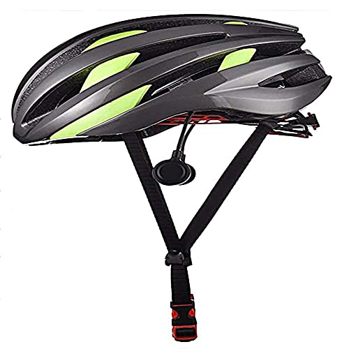 Solide Mens Fietshelm met LED en Bluetooth, Fietsen Fiets Skateboard Scooter Hoverboard Helm, Geïntegreerde Fietshelm, Verstelbare maat voor volwassenen Mannen/vrouwen