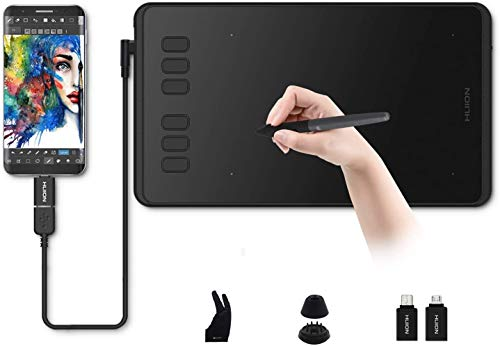 Graphics Drawing Tablet, HUION Inspiroy H640P, Battery-free Stylus, Signature Pad, OSU Tablet for Mac Windows Android, Ideal Drawing Pad for Work from Home & Remote Learning