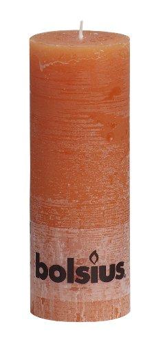 Rustic 103868000337 Pilar Vela, Cera de parafina, Naranja