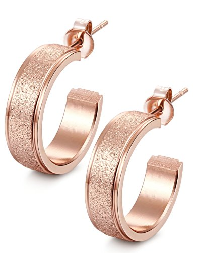 Jstyle Jewelry Stainless Steel Small Hoop Earrings for Womens Set 6mm Width