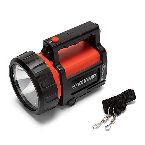 VELAMP Doomster Basic Torcia Lanterna Luce da Ispezione LED 100 Lumen 1W. Funziona con 1 pila 4R25 o 4 LR20. Impermeabile IP44. per Campeggio, Pesca, Trekking. 1 W, Rosso, 20.8x14.4x16.2 cm