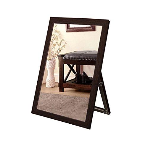 Everyday home Pied de plancher portant le miroir de chaussure Border Silver Mirror Clothing Store Miroir de chaussure (Couleur : Brown)