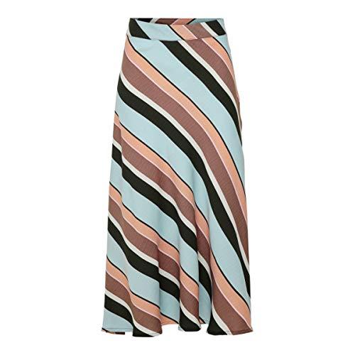 JACQUELINE de YONG 15195697 - Falda de Seda para Mujer, Color Celeste