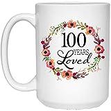 N\A Regalos de cumpleaños número 100 para Mujeres - Regalo para Mujeres de 100 años - 100 años amados Desde