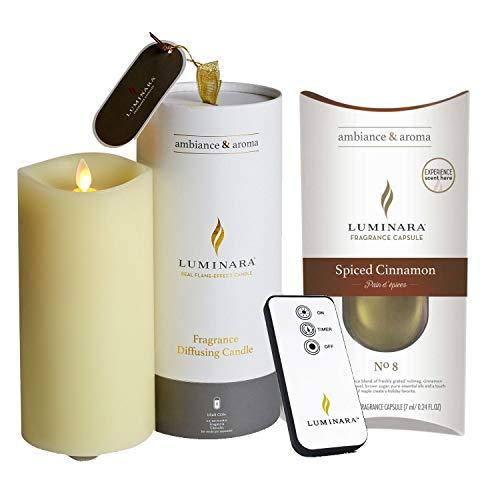 Luminara Fragrance Diffusing Candle and Fragrance Pod Spiced Cinnamon