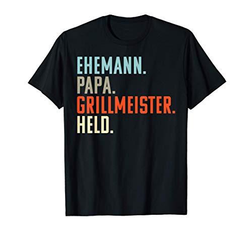 Herren Ehemann Papa Grillmeister Held: Lustiges Geburtstag Geschenk T-Shirt
