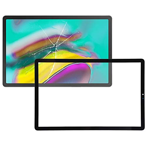 YUNSHUIVICC Front Screen Outer Glass Lens for Galaxy Tab S5e SM-T720 / SM-T725(Black) (Color : Black)