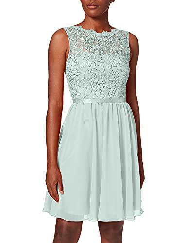 Laona Damen Cocktail Dress LA81712_P Partykleid, Grün (Chalk Green 9048), 34 (Herstellergröße: XS)