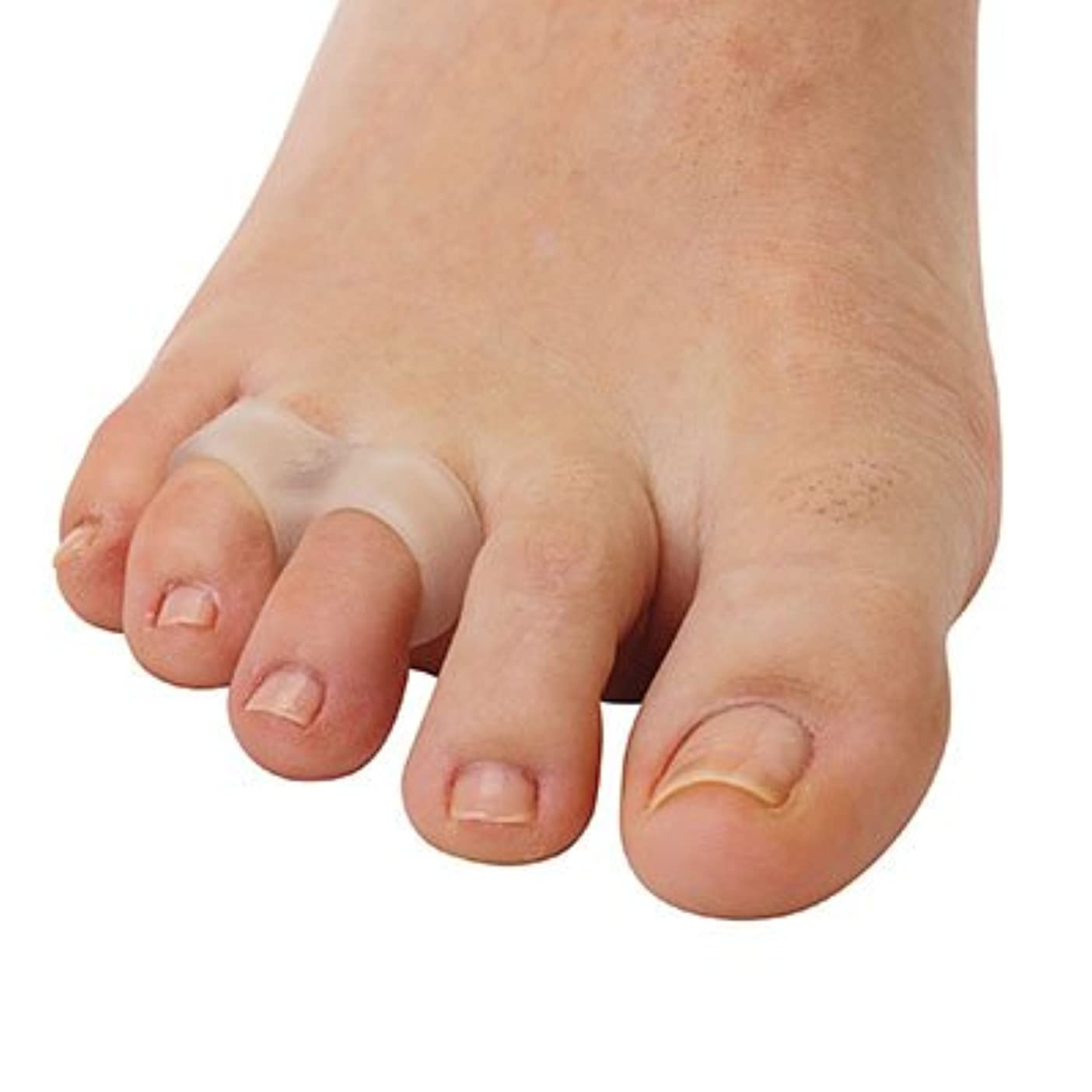 させる引き受ける単調な内反小趾用足指スペーサー?2ループ(P35)(フリーサイズ)