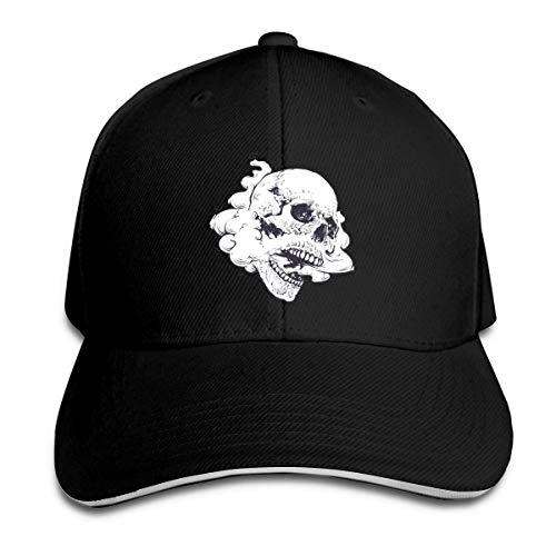 XCNGG Vaping Skull Unisex Sandwich Cap Sombreros Ajustables