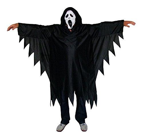 Scream Horror Dämon Kostüm für Kinder mit Maske Gr. 152