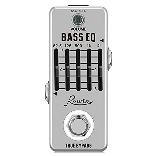 Rowin Pedal ecualizador de 5 bandas para guitarra bajo con ecualizador de bajos con mini tamaño True Bypass