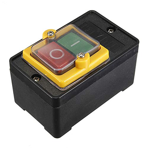 RFElettronica, Interruptor industrial AC 220 V/380 V 10 A impermeable botón ON/OFF KAO-5 con caja
