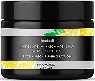 Face & Neck Firming Cream - Top Influencer - Organic & Vegan - Helps With Anti-Wrinkle & Firming Skin Packed with Plant Stem Cells, Castor Oil, Vitamin E, AHAs, Peptides, Lemon Extract & More