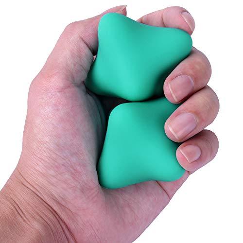 マッサージボール Wisdompro リラックスボール 指エクササイズ ストレス解消 トレーニング 首 肩 背中 腰 ふくらはぎ 足裏 ツボ押し シリコン製 2個セット ミント