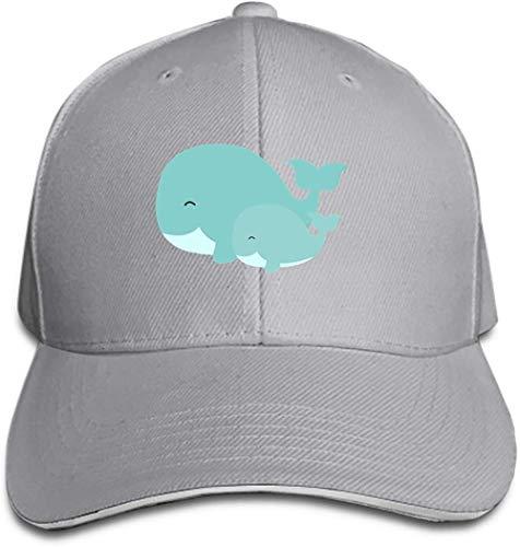 DSFJK Imágenes de Dibujos Animados de Gorra de béisbol de delfín Lindo Sombreros de Camionero Sombrero de papá Ajustable con Pico Plano para Hombres y Mujeres