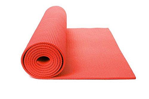 DOBO® Tappeto Tappetino Yoga Addominali Aerobica Palestra Fitness Ginnastica Pilates Antiscivolo (Rosso)