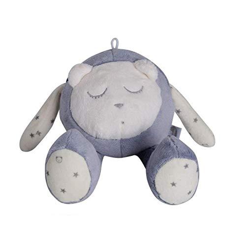 myHummy Baby Einschlafhilfe Geräusche Maskottchen Bär grau | Herzschlag und weißes Rauschen zur Beruhigung | Automatische Abschaltung Schlafsensor | Sleep Aid White Noise Sound Bear for Babys