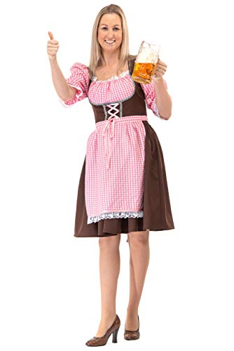 Original Replicas Langes Oktoberfest Dirndl Kleid Tirol Bierfest Kostüm M - XS bis 3XL