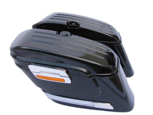 Mutazu 283900003Vivid Negro HL duro saddlebags