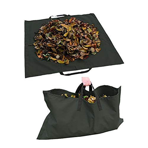 LJIANW GardenMate, Negro Bolsas De Jardín, Reutilizable Bolsa De Hojas De Jardín Tarea Pesada 600D Paño De Oxford for Jardinería Césped Piscina Contenedor De Basura (Color : 2PCS, Size : 144X144cm)