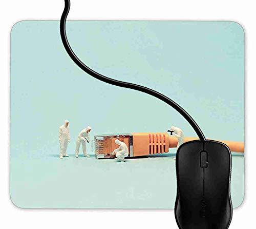 Mauspad Lustiges Netzwerkkabel Rutschfeste Gummi Basis Mouse pad, Gaming mauspad für Laptop, Computer 1F1194