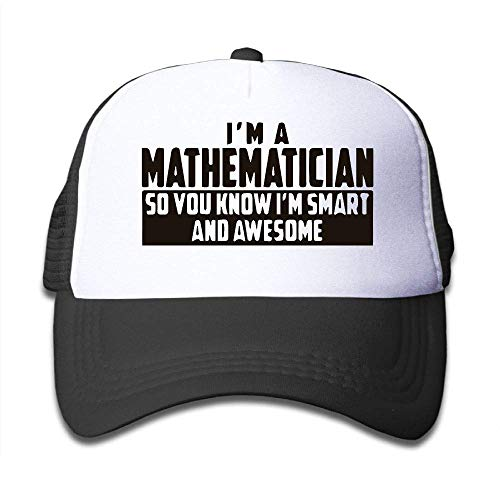 Voxpkrs Smart and Awesome Mathematician On Children's Trucker Hat, Youth Toddler Mesh Hats Baseball Cap Comfortable26279