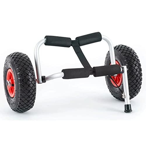 LVLUOKJ Wagon de Kayak (Trolley Soporte de Aluminio anodizado Plegable hasta 60 kg de Carga) - Aluminio