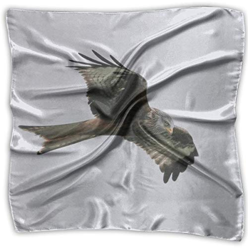 Abel Berth Eagle Red Kite Bird Lady Bedruckter quadratischer Schal Kopfschmuck Hals Satinschals Wickeltuch Halstuch