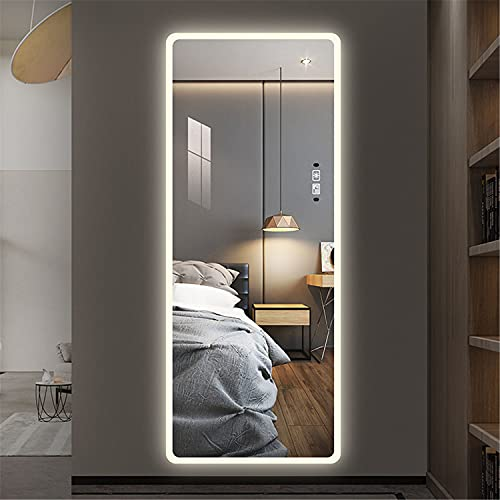 """Laiya 65""""21.7"""" Full Length Mirror Intelligent Human Body Induction Mirrors with Smart Touch Button Big Size Bedroom,Living Room,Dressing Room Hotel Wall-Mounted Led Mirror"""