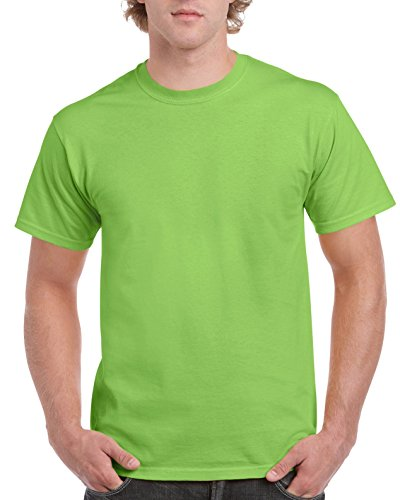 Gildan - Camisa para Hombre Verde Verde Lima L