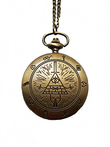 Giulyscreations Collier montre en métal sans nickel illuminé pyramidal yeux pour homme illuminé The All Ventes Harry Potter Cosplay
