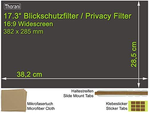 Thorani Laptop Notebook Privacy Filter Blickschutz Folie Sichtschutzfolie - 17.3 Zoll 16:9 Bildschirm