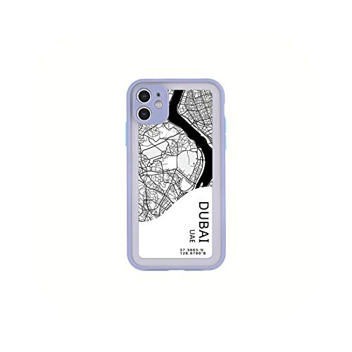 Carcasa para iPhone 12, diseño de City Country Phone Case New York Paris para iPhone XS Max XR X 7 8 11 Pro Max 12 Mini Dubai-for iPhone 12 Mini