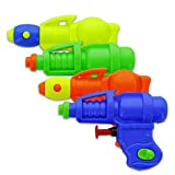 Srenta 4 Inch Plastic Space Water Squirter, Have Fun Water Fight | Pack of Assorted Colors 12 Water Guns