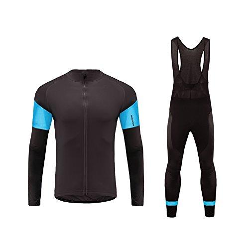 Uglyfrog HIWLJT13 Abbigliamento Vello Invernale Ciclismo da Uomo,Maglia Manica Lunga+Pantaloni Lunghi,Cuscino Gel 3D,Moda Set Completo,Sportivo per Bicicletta,Ciclismo Jerseys Regali per Amico