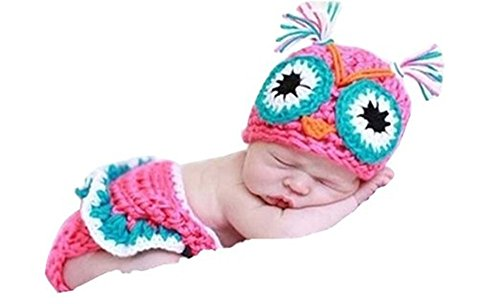 Pinbo Baby Owl Infant Baby Knit Crochet Handmade Photography Photo Props