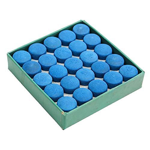 Vidillo 50 Stück Queue-Spitzen 10 mm, Snooker-Queue-Spitzen Billard-Pool-Aufsätze mit Aufbewahrungsbox, Blau Pool-Queue-Zubehör