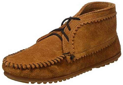 Minnetonka Suede Ankle Boot, Damen Kurzschaft Mokassin Boots, Braun (Brown 2), 37 EU (6 US)