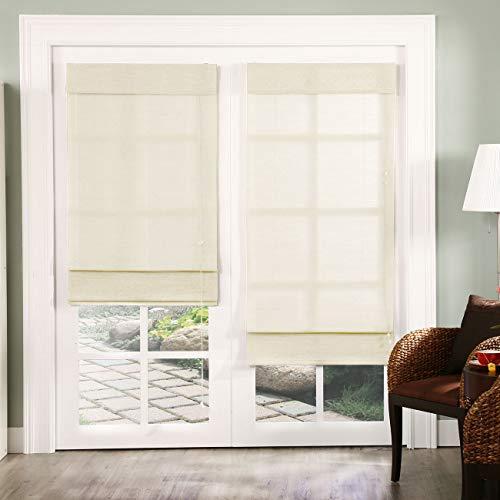 Chicology Standard Cord Lift Roman Shades Window Blind, 36'W X 72'H, Nevada Vanilla