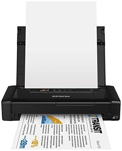 EPSON WorkForce WF-100W tragbarer mobiler DIN A4 Tintenstrahldrucker (mobiles Drucken, WiFi, WiFi Direct, USB, integrierter Akku, nur 1,6 kg Gewicht) schwarz