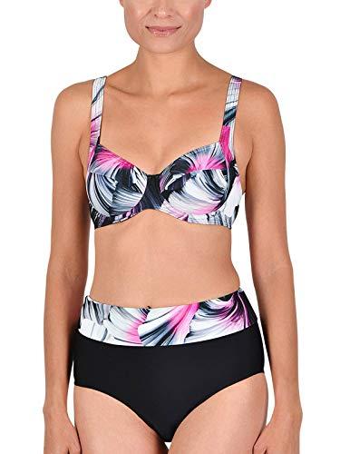 Naturana Bügel Bikini 72583 Gr. 44 B in schwarz-Graphit-pink