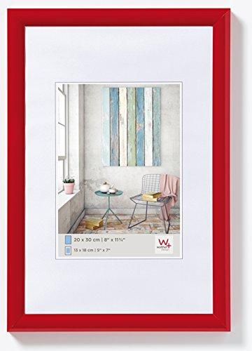 walther design KP015R Trendstyle Kunststoffrahmen, 10x15 cm, rot