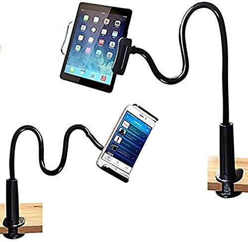 Soporte para teléfono móvil,Soporte Soporte para Tablet,Soporte para teléfono móvil con Cuello de Cisne Universal paraSmartphone,Tablet,Cuello de Cisne,Brazo Largo Flexible-80 cm-Negro